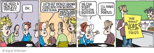 Comic Strip Signe Wilkinson  Family Tree 2010-09-22 environment