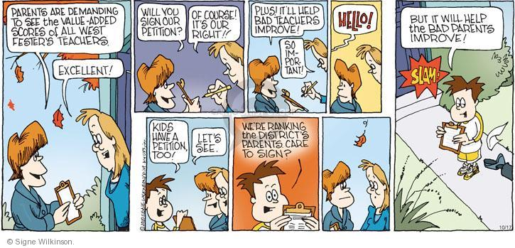Comic Strip Signe Wilkinson  Family Tree 2010-10-17 family