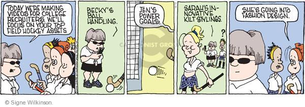 Comic Strip Signe Wilkinson  Family Tree 2010-10-13 student athlete