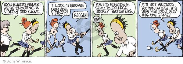 Comic Strip Signe Wilkinson  Family Tree 2010-10-14 school sports