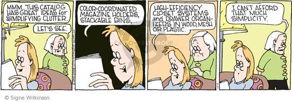 Comic Strip Signe Wilkinson  Family Tree 2010-10-19 expensive