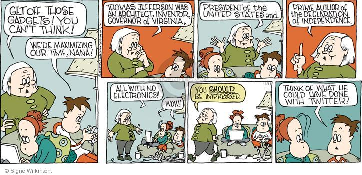 Comic Strip Signe Wilkinson  Family Tree 2010-11-14 think