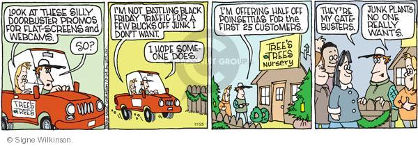 Comic Strip Signe Wilkinson  Family Tree 2010-11-25 battle