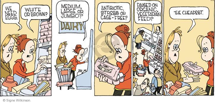 Comic Strip Signe Wilkinson  Family Tree 2010-12-05 grocery store
