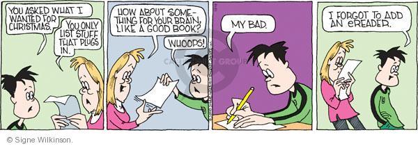 Comic Strip Signe Wilkinson  Family Tree 2010-12-16 good book