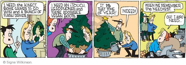 Comic Strip Signe Wilkinson  Family Tree 2010-12-17 Christmas list