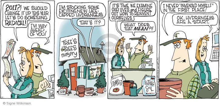 Comic Strip Signe Wilkinson  Family Tree 2011-01-02 life