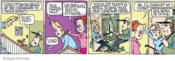 Comic Strip Signe Wilkinson  Family Tree 2010-12-31 plenty