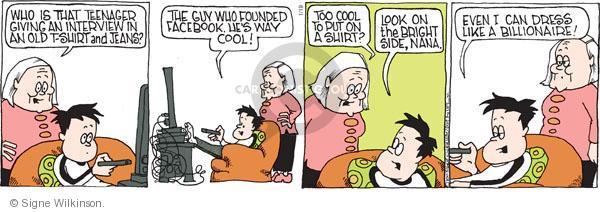 Comic Strip Signe Wilkinson  Family Tree 2011-01-19 culture
