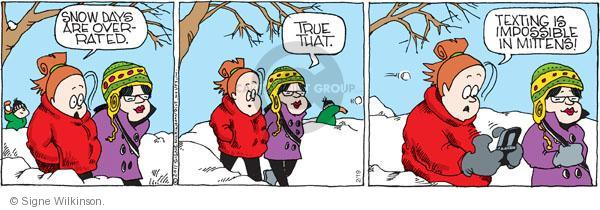 Comic Strip Signe Wilkinson  Family Tree 2011-02-19 winter