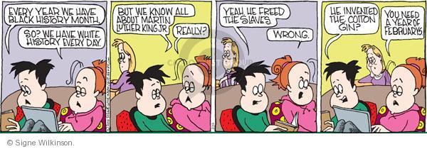 Comic Strip Signe Wilkinson  Family Tree 2011-02-23 civil rights