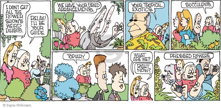 Comic Strip Signe Wilkinson  Family Tree 2011-03-06 flower show
