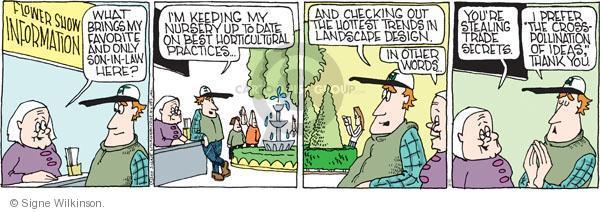Comic Strip Signe Wilkinson  Family Tree 2011-03-10 flower show
