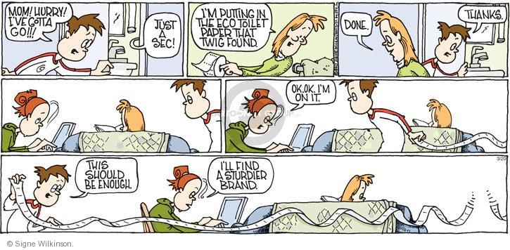 Comic Strip Signe Wilkinson  Family Tree 2011-03-20 environment
