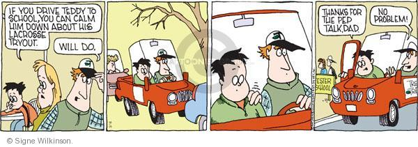 Comic Strip Signe Wilkinson  Family Tree 2011-03-16 athlete