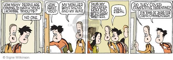 Comic Strip Signe Wilkinson  Family Tree 2011-03-18 athlete