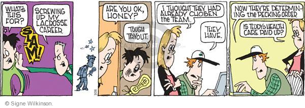 Comic Strip Signe Wilkinson  Family Tree 2011-03-26 student athlete