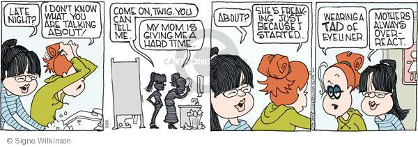 Cartoonist Signe Wilkinson  Family Tree 2011-03-28 mothers and daughters