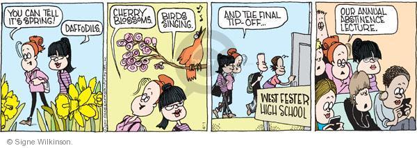 Comic Strip Signe Wilkinson  Family Tree 2011-04-11 springtime