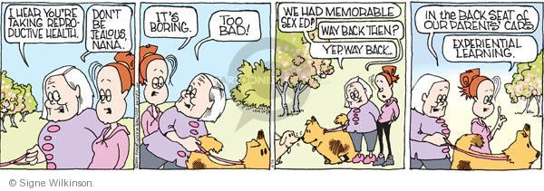 Comic Strip Signe Wilkinson  Family Tree 2011-04-16 grandmother
