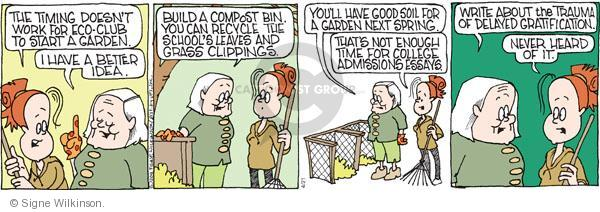 Comic Strip Signe Wilkinson  Family Tree 2011-04-21 environment