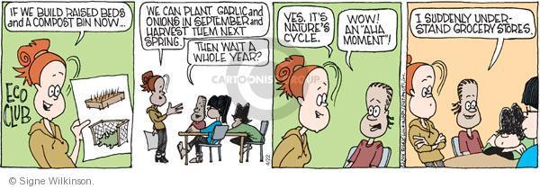Comic Strip Signe Wilkinson  Family Tree 2011-04-22 garden store
