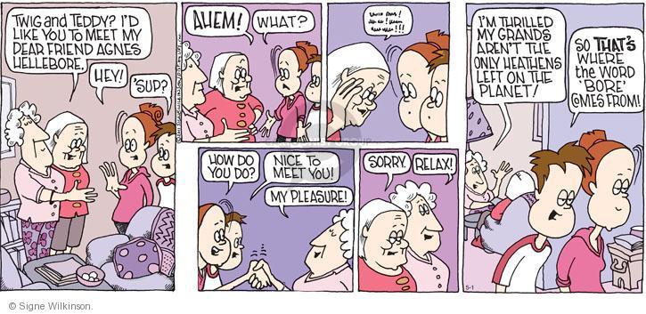 Comic Strip Signe Wilkinson  Family Tree 2011-05-01 behavior