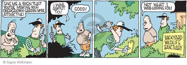 Comic Strip Signe Wilkinson  Family Tree 2011-05-02 wildlife