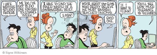 Comic Strip Signe Wilkinson  Family Tree 2011-05-13 student teacher