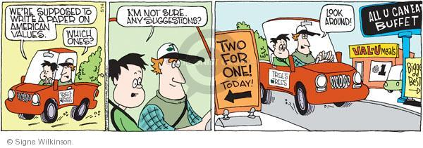 Comic Strip Signe Wilkinson  Family Tree 2011-05-14 write