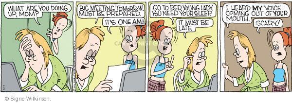 Comic Strip Signe Wilkinson  Family Tree 2011-05-17 child