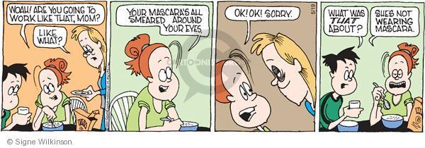 Comic Strip Signe Wilkinson  Family Tree 2011-05-19 sleep