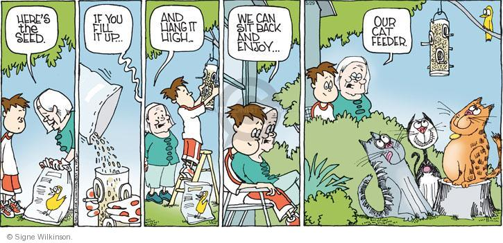 Comic Strip Signe Wilkinson  Family Tree 2011-05-29 cat feeder