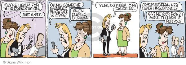 Comic Strip Signe Wilkinson  Family Tree 2011-05-23 work life