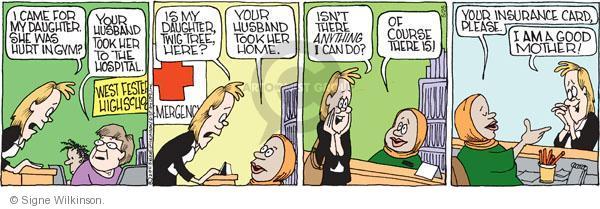 Comic Strip Signe Wilkinson  Family Tree 2011-05-25 parenthood