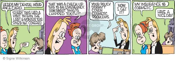 Comic Strip Signe Wilkinson  Family Tree 2011-05-27 child