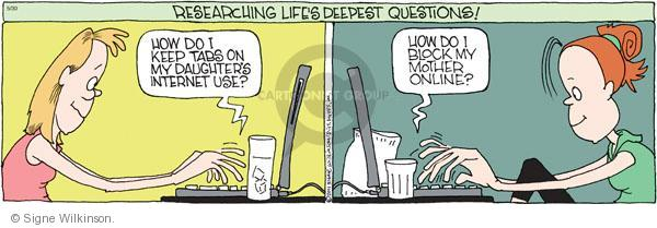 Comic Strip Signe Wilkinson  Family Tree 2011-05-30 child