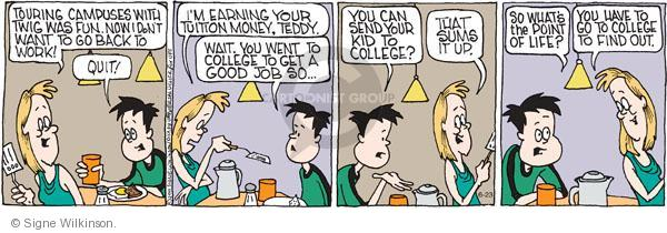 Comic Strip Signe Wilkinson  Family Tree 2011-06-23 parenthood