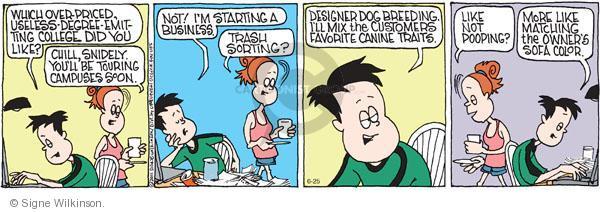 Comic Strip Signe Wilkinson  Family Tree 2011-06-25 chill