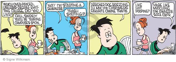 Comic Strip Signe Wilkinson  Family Tree 2011-06-25 education