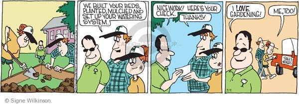 Comic Strip Signe Wilkinson  Family Tree 2011-07-01 watering plant