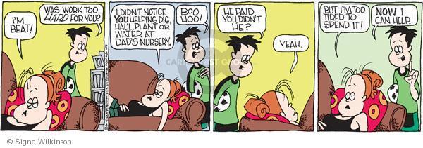 Comic Strip Signe Wilkinson  Family Tree 2011-07-02 watering plant