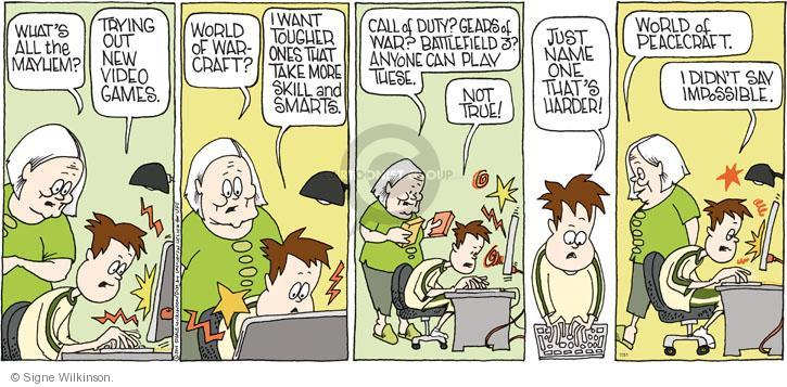 Comic Strip Signe Wilkinson  Family Tree 2011-07-31 video game