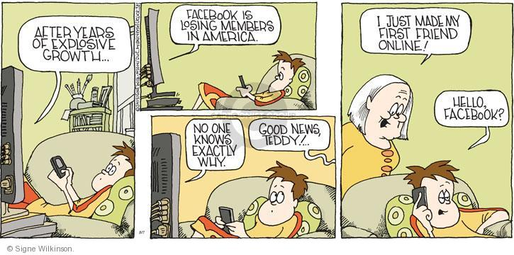 Comic Strip Signe Wilkinson  Family Tree 2011-08-07 social network