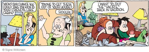 Comic Strip Signe Wilkinson  Family Tree 2011-08-09 parenthood