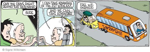 Comic Strip Signe Wilkinson  Family Tree 2011-08-11 road