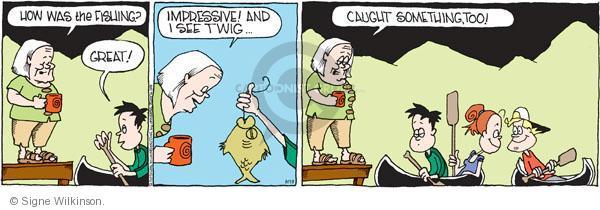 Comic Strip Signe Wilkinson  Family Tree 2011-08-19 catch