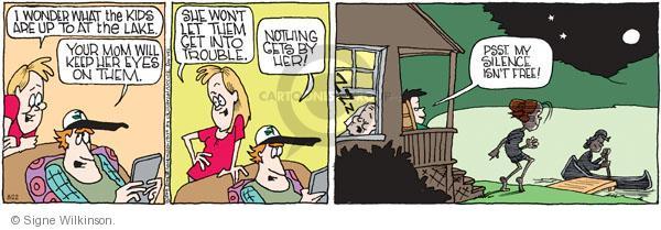 Comic Strip Signe Wilkinson  Family Tree 2011-08-22 trouble