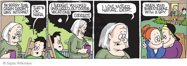 Comic Strip Signe Wilkinson  Family Tree 2011-08-24 internet dating