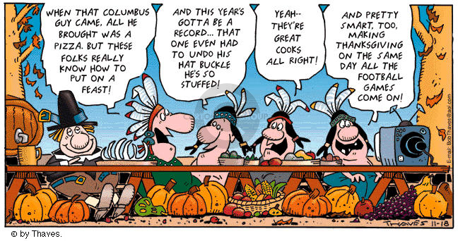 Comic Strip Bob Thaves Tom Thaves  Frank and Ernest 2001-11-18 feast